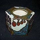Rozenburg ink pot with flower pattern