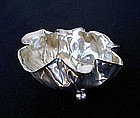 WMF leaf shaped silver plated bowl