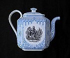 Belgian transfer printed tea or coffee pot