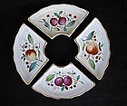 Four German Poppelsdorf  dishes, late 19th century