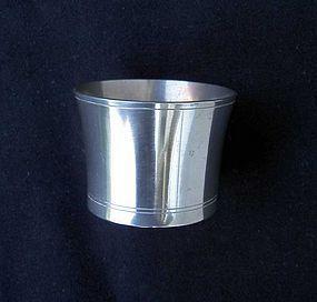 Danish pewter beaker vase by Just Andersen