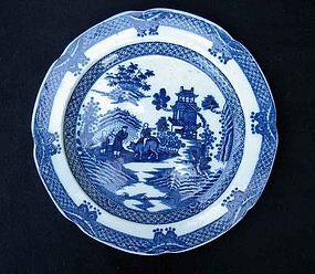 English Boy on a Buffalo plate