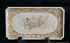 Japanese Ivory Tray - Kannon, Dragons and Clouds