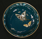 Japanese Cloisonne Enamel Bowl with Butterflies