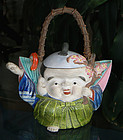 Wonderful Old Japanese Figural Teapot from Banko