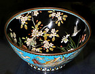 Rare Japanese Cloisonne Enamel Bowl with Three Phoenix