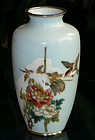 Fine Japanese Cloisonne Enamel Vase -Snow Scene