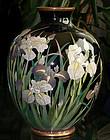 Large Japanese Cloisonne Enamel Vase -Gonda