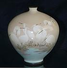 Fine Japanese Cloisonne Enamel Vase Sosuke or Hattori