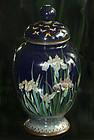 Fine Japanese Cloisonne Enamel Jar with Iris