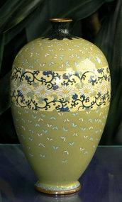 Excellent Japanese Cloisonne Enamel Vase- Meiji Era