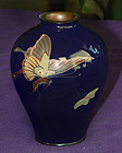 Japanese Cloisonne vase with Butterflies