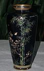 Fine Japanese Cloisonne Enamel Vase - Miwa