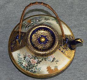Fine Japanese Satsuma Teapot Signed Kinkozan