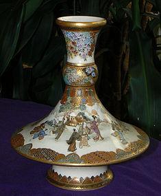 Japanese Satsuma Vase - Ryozan