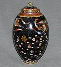 Unusual Japanese Cloisonne Enamel Jar