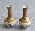 Excellent Pair Japanese Satsum Vases -Yabu Meizan
