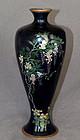 Fine Large Japanese Cloisonne Enamel Vase - Wisteria