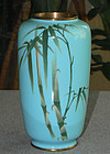 Japanese Cloisonne Enamel Vase Wireless Bamboo