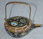 Japanese Cloisonne Enamel Teapot - Namikawa Style