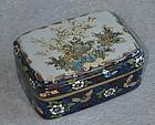 A Fine Large Japanese Cloisonne Enamel Box