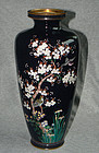 Large Japanese Cloisonne Enamel vase with Birds