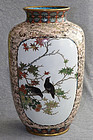 Large Japanese Golden Age Cloisonne Enamel Vase