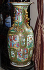 Fabalous Large Antique  Chinese Export Rose Medallion Vase