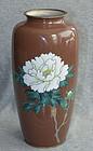 Exquisite Japanese Cloisonne Enamel Vase - Moriage