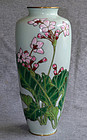 Fine Japanese Cloisonne Enamel Vase - Moriage