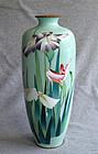 Large Attractive Japanese Cloisonne Enamel Vase- Ota Kichisaburo