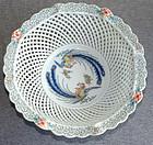 Large Imari Fukagawa Porcelain Basket