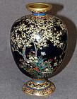 Beautiful Small Japanese Cloisonne Vase - Hayashi