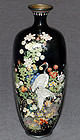 Fine Japanese Cloisonne Enamel Vase - Very Attractive Colors