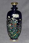 Fine Small Japanese Cloisonne Enamel Vase - Ota