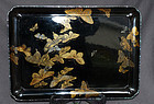 Japanese Lacquer Tray with Butterflies and Moths - Shirayama Shosai