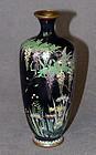 Fine Japanese Cloisonne Enamel Vase Signed