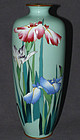 Large Attractive Japanese Cloisonne Enamel Vase - Ota or Hattori