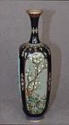 Japanese Cloisonne Enamel 4 Panel Vase - signed Ota