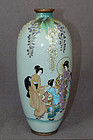 Great Japanese Cloisonne Enamel Vase with figures