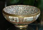 Exquistie Japanese Satsuma bowl - Hankinzan