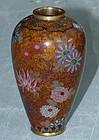 Japanese Cloisonne Enamel Vase - Early Namikawa Yasuyuki