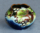 Rare Perforated Japanese Cloisonne Enamel Bowl - Hattori
