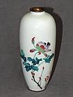 Japanese cloisonne Wireless  Enamel Vase Signed  Kumeno Teitaro