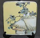 Fine Sosuke Style Japanese Cloisonne Enamel Plaque - Unsigned