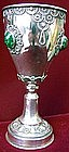 Jewish Sacramental Silver Goblet.