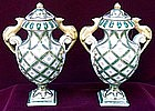 French Sevres Porcelain Amphoras