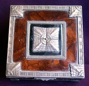 Rare Pewter and Tortoiseshell Art Deco Box