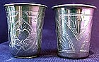Russian Silver Beakers