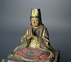 Japanese Wooden Statue of Benzaiten